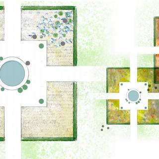 Le jardin des globes - louversey - coupe 3