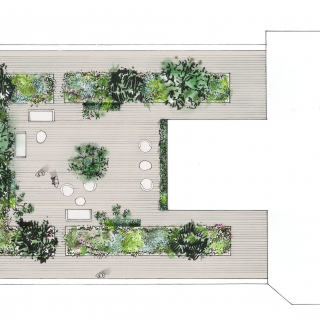 Terrasse - Washington Plaza - plan
